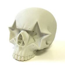 """Bone White Star Skull 7"""" Designer Vinyl Figure by Ron English Popaganda NEW"""