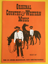 Original Country & Western Music, Best of, Vocal/Piano