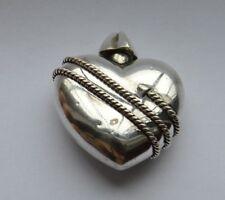 Perfume Bottle Dabber Case Rare Vintage Tiffany & Co Silver Heart Arrow