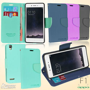 CL Wallet Flip Card Slot Stand Leather Case Cover For Oppo F1 A35