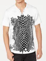 INC Mens T-Shirt Classic White Size Medium M Crocodile Graphic Tee $29- 083