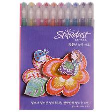 Sakura 1.0mm Gelly Roll Stardust Pen 10 pcs Set Sparkling Gel Ink Blister Card