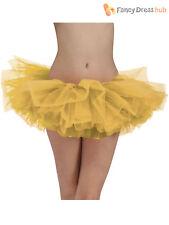 Ladies Tutu Skirt Womens Gold Silver Ballerina Hen Fancy Dress Costume Accessory