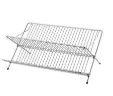 KVOT Folding Dish Drainer Galvanised Steel Two Shelf Drying Rack IKEA