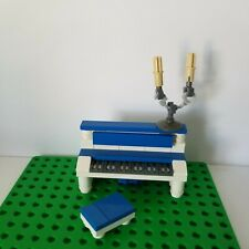 Lego Instrument Piano BLUE WHITE with Candle Opera Bench Classic Music Upright