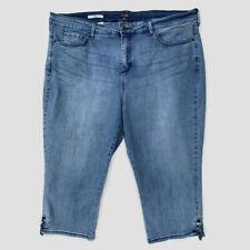 NYDJ Capri Jeans Lace-Up Ankles 22W