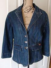 Vertigo Jean Jacket Denim Size XL Cotton Spandex Stretch Dark Wash Pockets