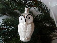 Weihnachtsschmuck Lauscha Glas Handmalerei Vogel Eule Glasbläserei