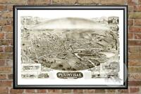 Old Map of Plainville, CT from 1907 - Vintage Connecticut Art, Historic Decor