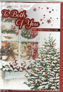 To Both Of You Christmas Card Traditional Design - Prelude Size 20cm x 14cm
