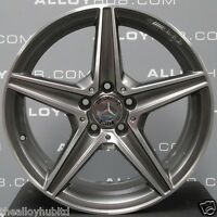 "GENUINE MERCEDES-BENZ C-CLASS W205 AMG 18""INCH 5 SPOKE POLISHED ALLOY WHEELS X4"