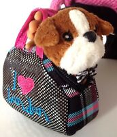 Bull Dog & Pet Carrier Purse fit 18 inch Accessories for American Girl Doll SET