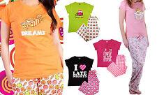 Damen-Nachtwäsche mit T-Shirt-Pyjama-Sets