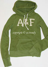 NWT RARE! ABERCROMBIE & Fitch Womens Vintage Classic Hoodie Sweatshirt Green XS