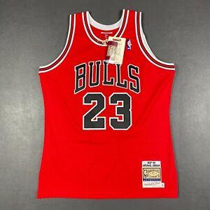 100% Authentic Michael Jordan Mitchell Ness 97 98 Bulls Jersey Size 44 L Mens