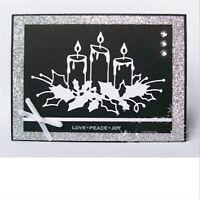 Stanzschablone Kerzen Weihnachten Hochzeit Oster Neujahr Geburtstag Karte Album