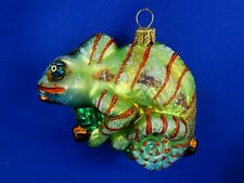 Chameleon Lizard Glass Christmas Tree Ornament Animal Poland 011303