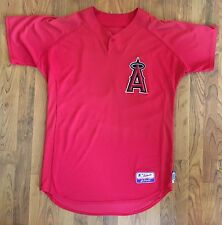 Anaheim Angels Team Issued Majestic Cool Base Red BPJersey #65-Size 46 2007-2010
