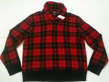 $350 Polo Ralph Lauren Men 100% Lambs Wool Scottish Yarn Shawl Knit Sweater XXL