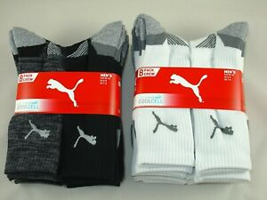 PUMA Men's All Sports Socks, CoolCell Crew Socks UK Size 6-8, Pairs 1 or 4 or 8