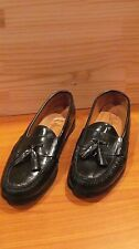 COLE HAAN BLACK LEATHER TASSEL LOAFER SHOES   Size 8 1/2D
