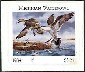 Michigan #9P 1984 État Canard Tampon Preuve Pintails Par Paul Bridgford