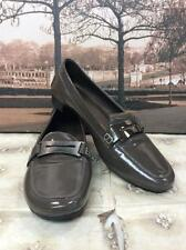 Tod's Gray Patent Leather Driving Moccasins Loafers Shoes 7 $595+