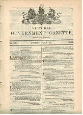 Government Gazette...No.80...July 1886...Leases, Mallee, Grazing, Mines...