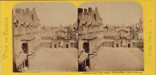 Château de Fontainebleau France Photo Stereo BK Paris Vintage Albumine ca 1870