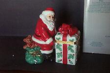 Partylite Jolly Santa Porcelain Votive Candle Holder Christmas Decoration IOB