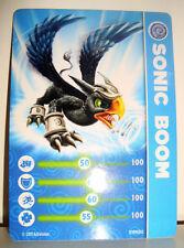 CARTE CARD FIGURINE SKYLANDERS - SONIC BOOM