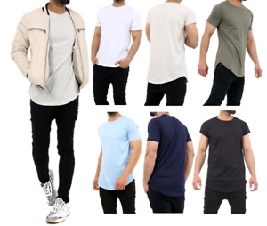 2x Mens Plain Short Sleeve T-Shirt Men Top Slim Fit Round Hem Crew Neck Casual