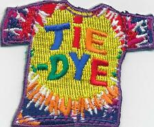 Girl Boy Cub TIE DYE dying t-shirt Fun Patches Crests Badges SCOUT GUIDE project