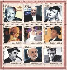 (206473) Movie Stars, Sinatra, Connery, Chaplin, Guinea-Bissau