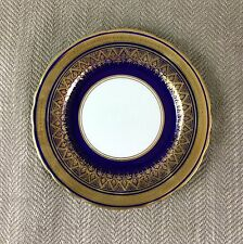 Rare Aynsley Fine Bone China Simcoe Cobalt Blue Gold Side Plate 16cm 7410