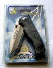 Smith & Wesson Cuttin Horse Nero Cintura-Clip S & W Coltellino POCKET KNIFE