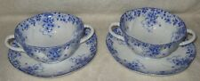 Shelley Dainty Blue Soup Bowl and Saucer Two Sets