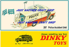 Dinky Toys 287 Police Ford Transit Accident Unit A3 Size Poster Sign Leaflet