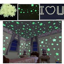100X Etoiles Lumineuses Autocollant Maison Chambre Enfant Déco Mural sticker Hot