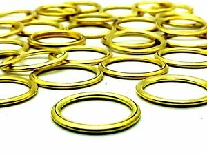 SMALL - LARGE BRASS CURTAIN RINGS Hollow Metal Hook Pole Fittings
