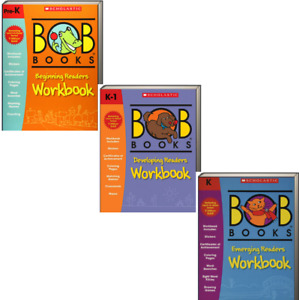 Bob Books Beginning Readers Workbooks,Developing,Emerging (3 Paperbacks)