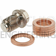 Vecchio Engineering Magnetic Oil Sump Drain Plug M14 X 1.5 with Five Washers