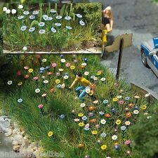 BUSCH 1229 H0, Sommerblumen, in verschiedenen Farben, 120 Stück, Bausatz, Neu