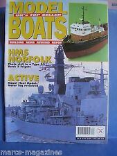 MODEL BOATS MAGAZINE # 574 1998 HMS NORFOLK RED FUNNEL TOWAGE FIRE TUG GATCOMBE