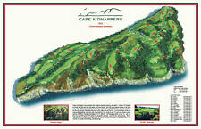 CAPE KIDNAPPERS 2003 - Tom Doak - a Vintage Golf Course Map
