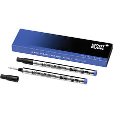 Montblanc Refills Pacific Blue - 2 pack Medium Point Rollerball Pen -Mont Blanc