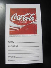 Lot of 5 Coca-Cola Classic Name & Address Pads - FREE SHIPPING