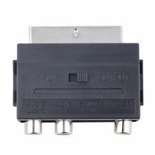 Hot Sale RGB Scart to Composite 3RCA S-Video AV TV Audio Adapter W4Q