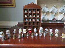 Lot of 36 Assorted Vintage Sewing Metal Porcelain Gold Pewter Enamel Thimbles