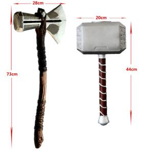 Thor Mjolnir Hammer & Stormbreaker Axe Cosplay Prob Handmade Real Size 1:1